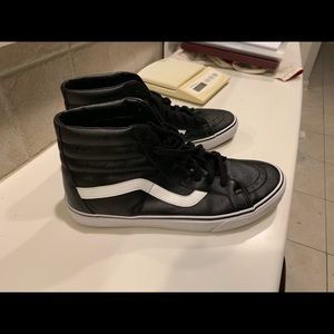 Brand new high top leather vans
